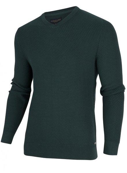 CAVALLARO 1895009 Aranido V-Neck Pullover 50000 Green