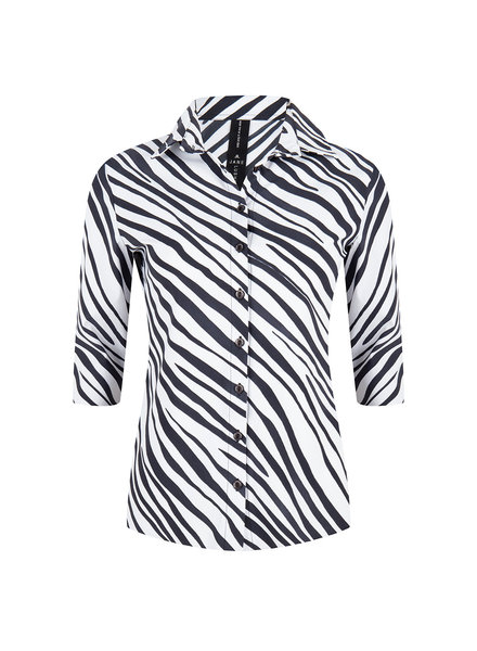 JANE LUSHKA ZE720SS10 Debbie shirt black and white white/black