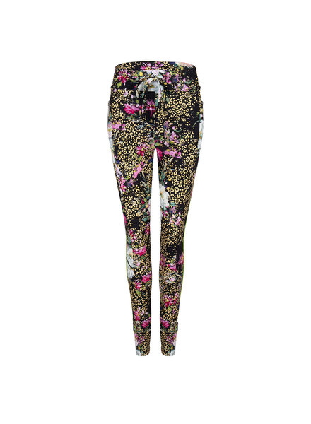 JANE LUSHKA UGF220SS03P Khloe drawstring pants leopard and rose black