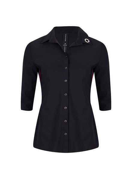JANE LUSHKA U720SS10P Noel eyelet shirt black/green