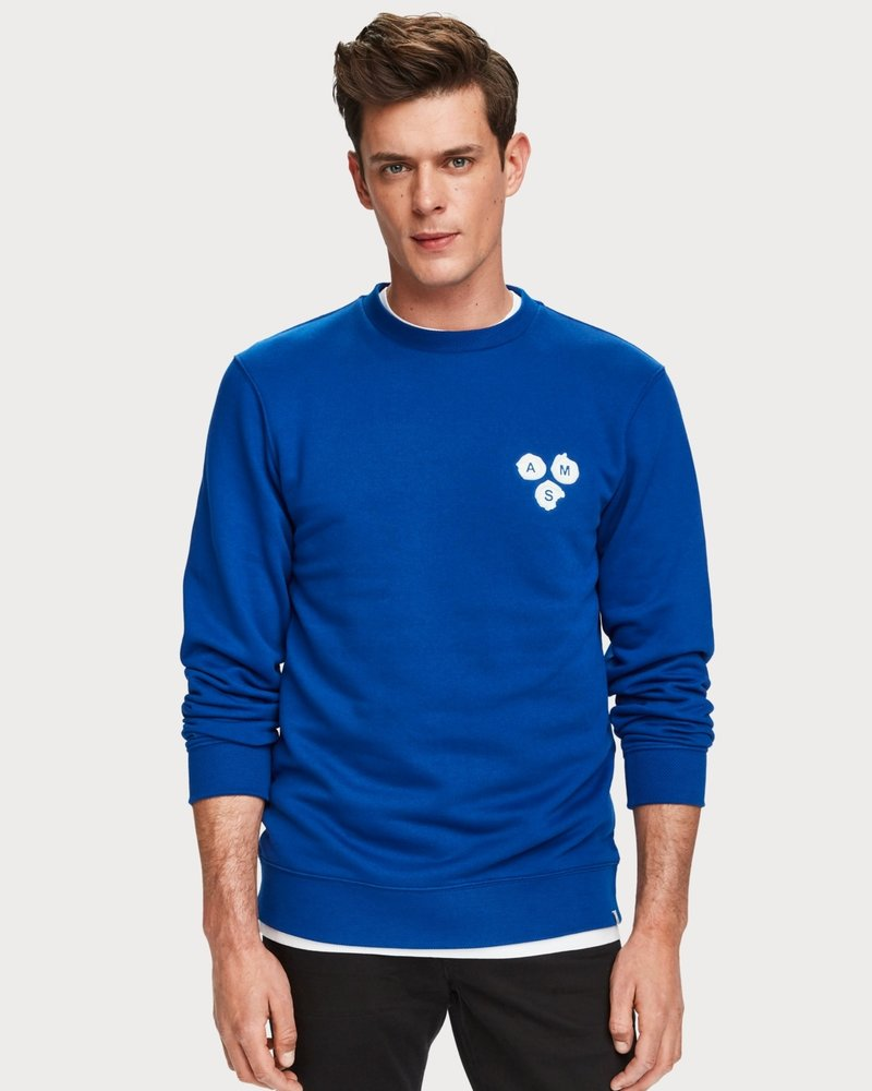 Scotch&Soda 153578 Crew neck sweat with special ribs and subtle branding