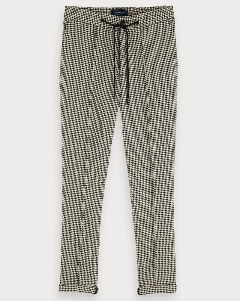 Scotch&Soda 153472 Houndstooth pant with pintuck