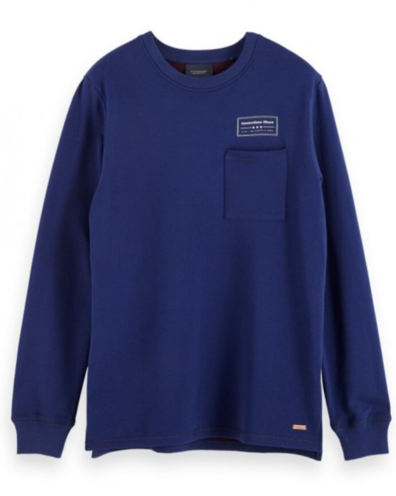 Scotch&Soda 153573 Crewneck sweat with contrast loops and chest pocket