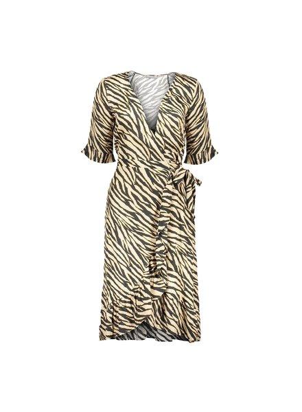 GEISHA 07107-20 Dress wrap with ruffle 3/4 sleeves 000999