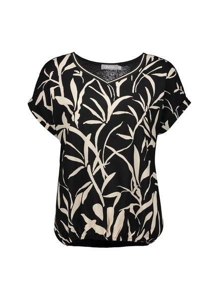 GEISHA 03140-23 Top AOP leaves elastic waist s/s 000009