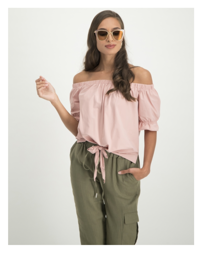 JANE LUSHKA U620SS660 Nicole knotted top barry pink