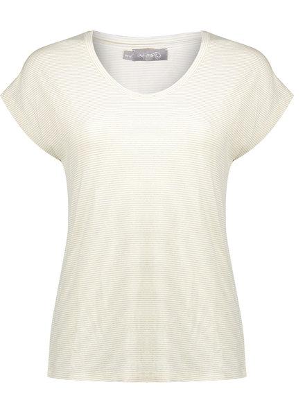 GEISHA 02070-41 T-shirt striped lurex s/s 000010