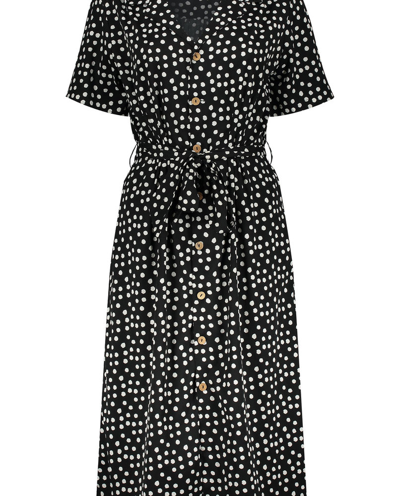 GEISHA 07135-21 Dress with dots & collar l/s 000999
