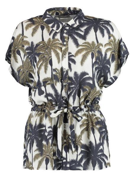 GEISHA 03190-20 Blouse AOP palmtrees s/s 000010
