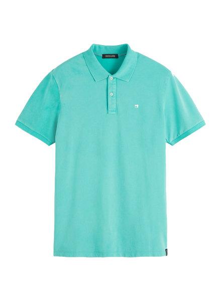 Scotch&Soda 155461 Garment-dyed stretch pique polo 0238