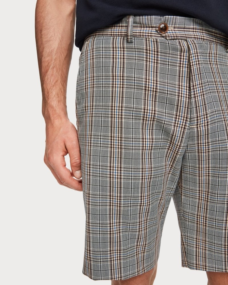 Scotch&Soda 155114 Mid length-Classic chino short in yarn-dyed pattern 0222
