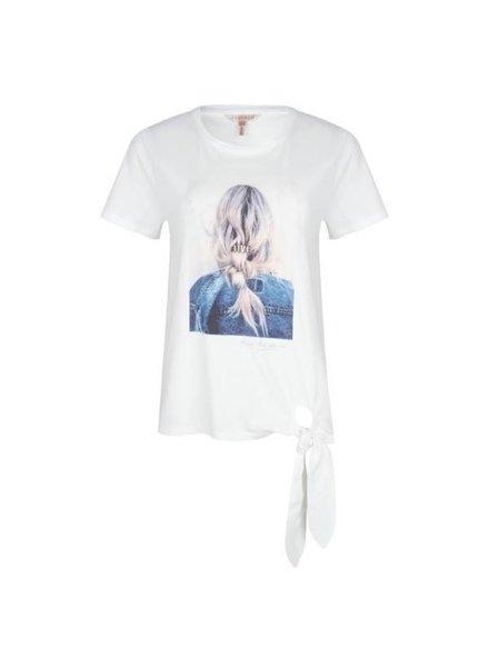 """ESQUALO SP20.05011 T-shirt knot """"love"""" off white"""