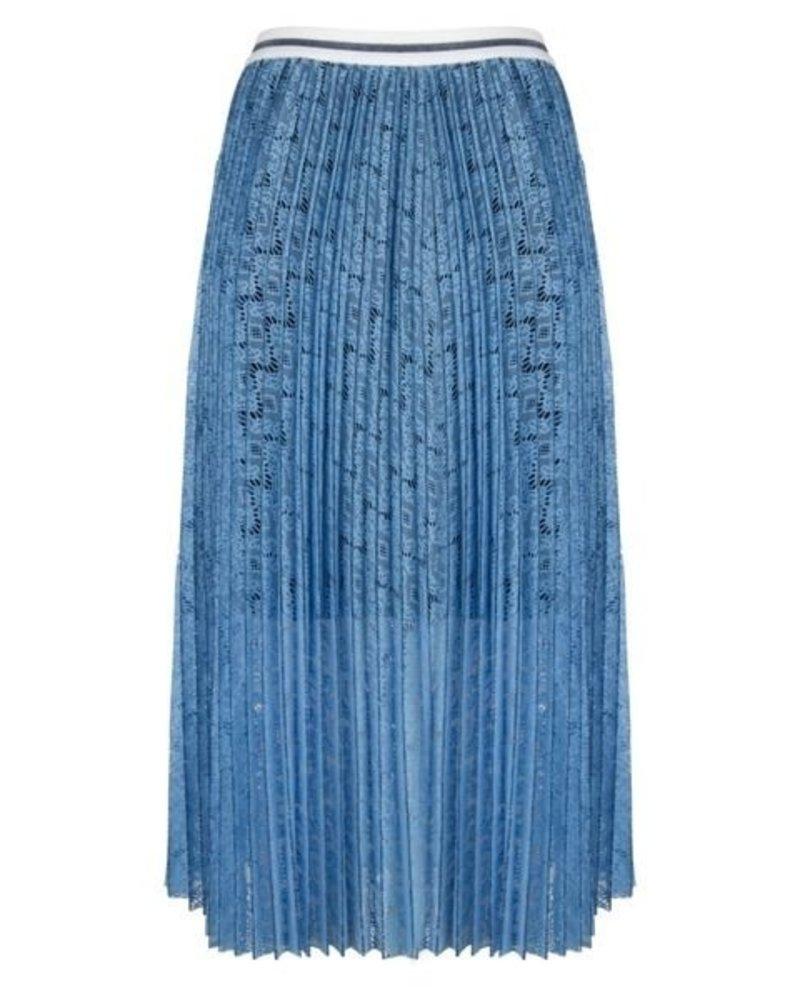 ESQUALO SP20.14010 Skirt lace stripe light blue