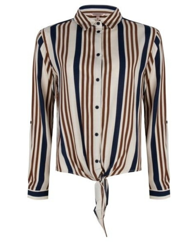 ESQUALO SP20.14039 Blouse knot stripes print
