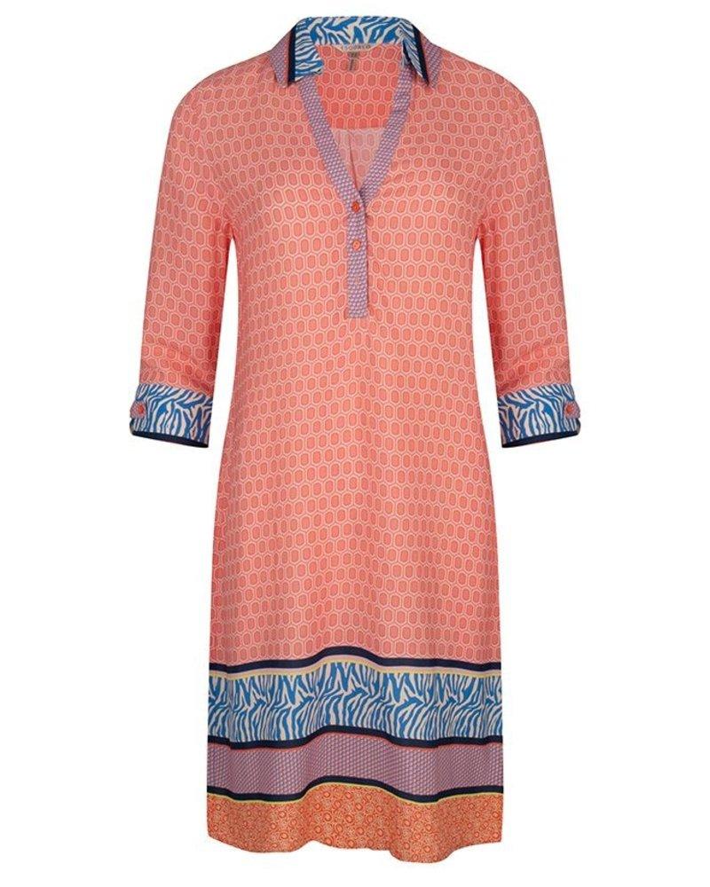 ESQUALO SP20.15002 Dress collar geomix print print