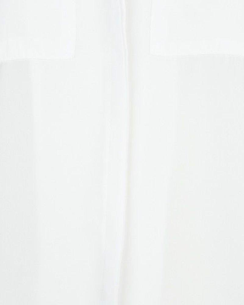 ESQUALO SP20.16030 Blouse basic small chest pockets off white