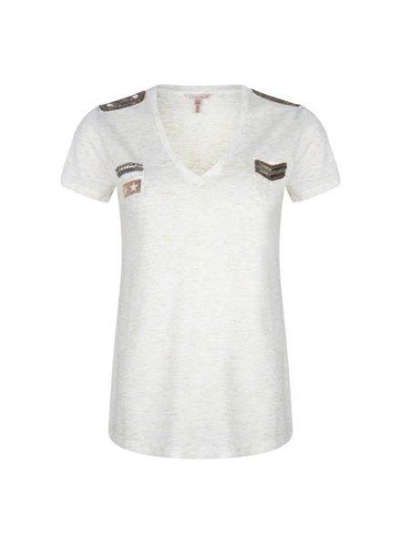 ESQUALO SP20.30005 T-shirt patches mele off white