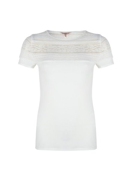 ESQUALO SP20.30007 T-shirt lace off white