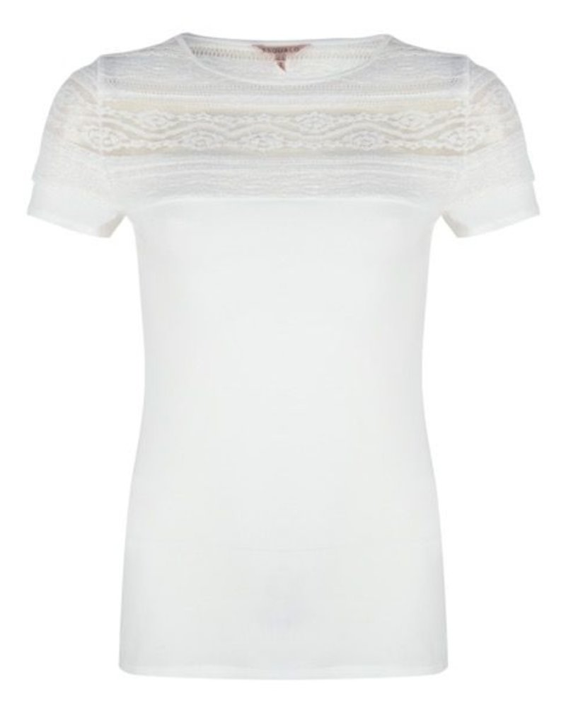 ESQUALO SP20.30007 T-shirt lace off white