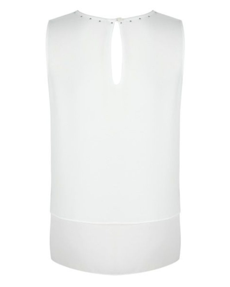 ESQUALO SP20.31012 Blouse studs slv/lss off white