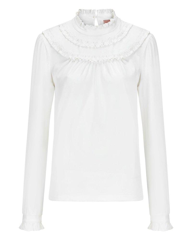 MILLA AMSTERDAM MSS20001.2 Bowi blouse offwhite