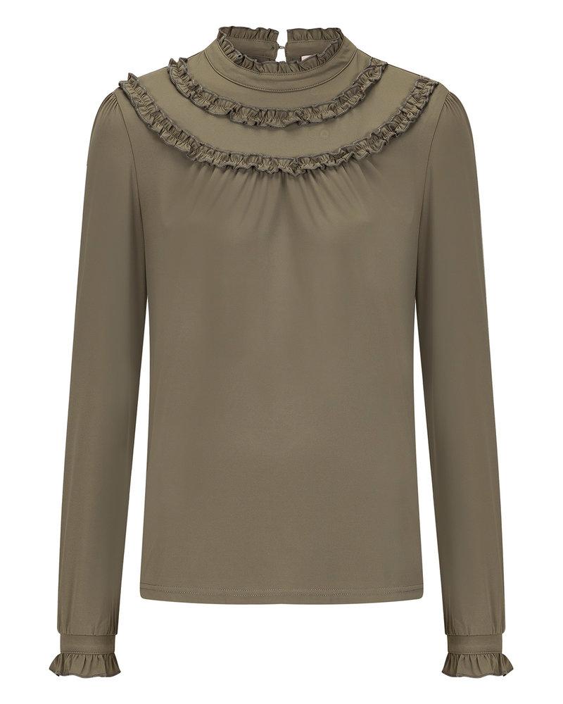 MILLA AMSTERDAM MSS20001.15 Bowi blouse army green