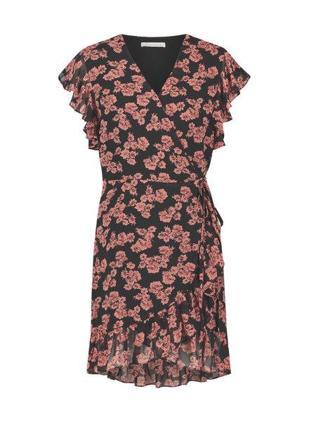 FREEBIRD Rosy mini dress short sleeve black pink