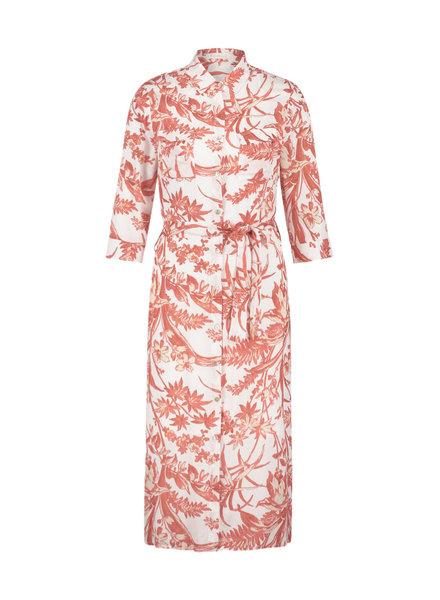 FREEBIRD Victoria midi dress 2/3 sleeve coral