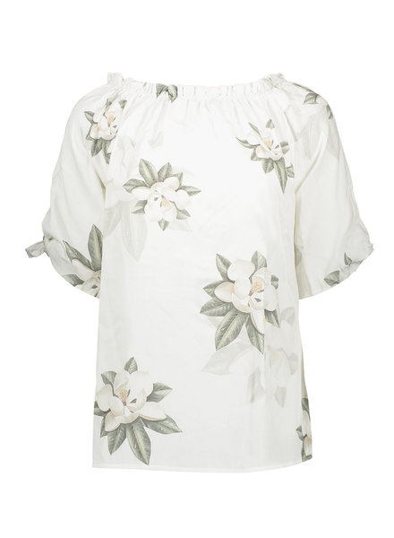 GEISHA 03000-10 Top flowerprint off-shoulder 000000