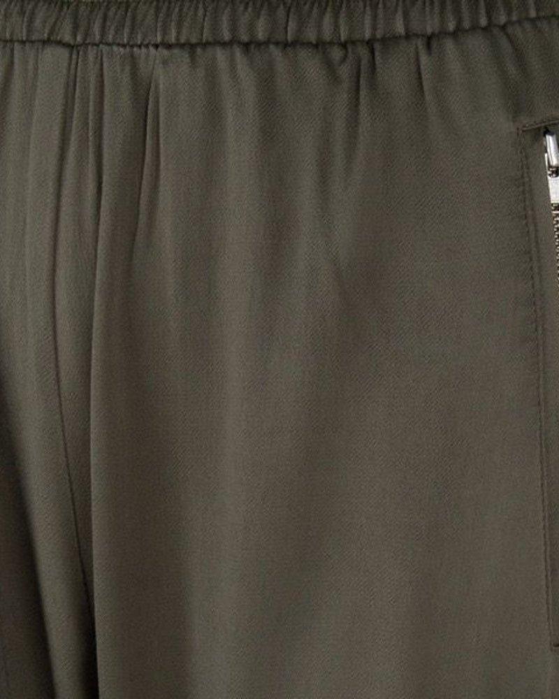 ESQUALO SP20.31010 Trousers satin elastic wb olive