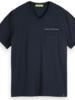 Scotch&Soda 155412 Washed v-neck tee with chest pocket 0005