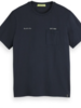 Scotch&Soda 155411 Washed crewneck tee with chest pocket 0005