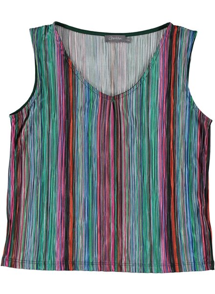 GEISHA 03115-41 Top sleeveless multi stripes 000998