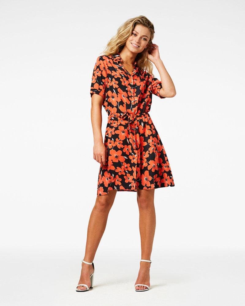 FREEBIRD Suzy mini dress short sleeve red