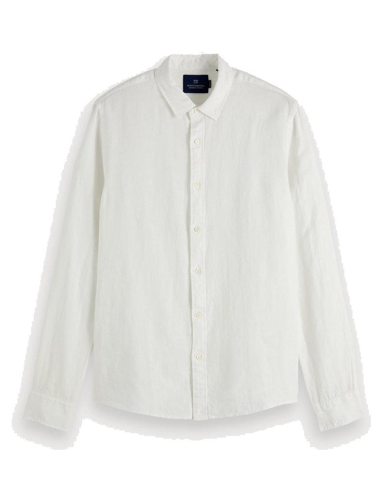 Scotch&Soda 155139 Regular fit -Classic linen dress shirt 0006