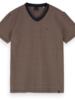 Scotch&Soda 155404 Classic cotton/elastane V-neck tee 0217
