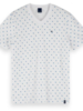 Scotch&Soda 155404 Classic cotton/elastane V-neck tee 0220