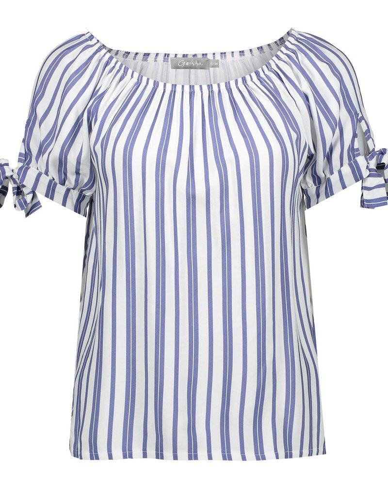 GEISHA 03047-43 Top striped with strings s/s 000625