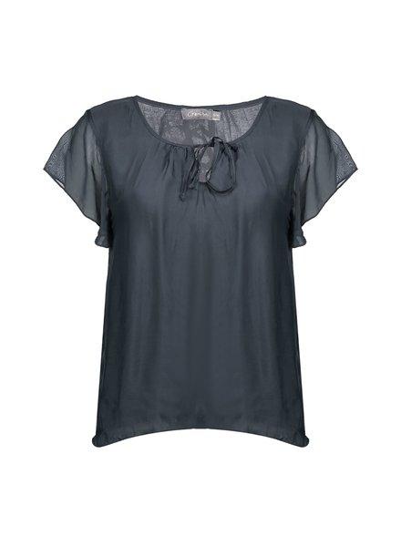 GEISHA 03290-70 Top silk with ruffle s/s 000950