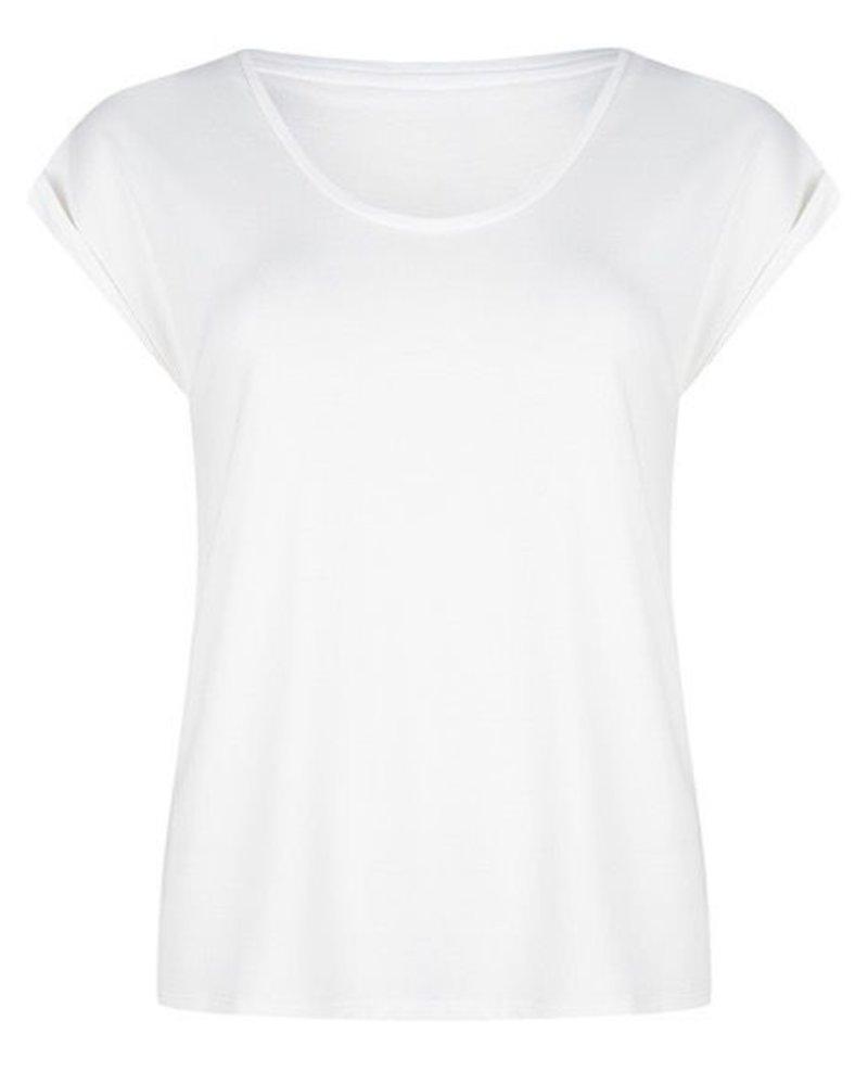 ESQUALO HS20.30219 T-shirt turn up sleeve off white