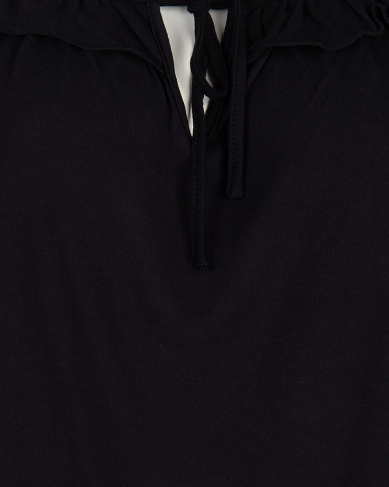 ESQUALO HS20.30222 Top cropped ruffle black