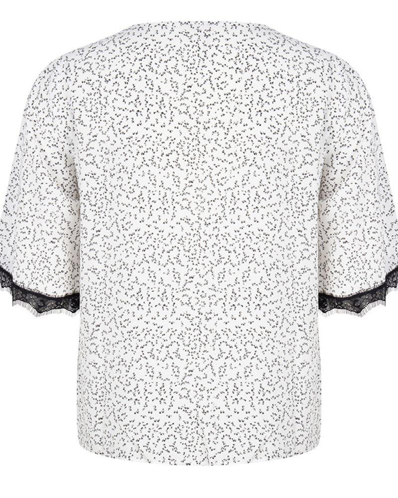 ESQUALO HS20.14207 Blouse knot mini bl/wh print print