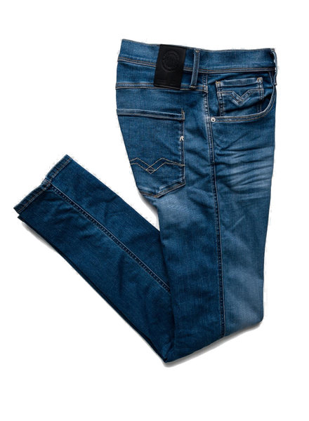 REPLAY SLIM FIT HYPERFLEX BIO ANBASS JEANS M914Y .000.661 A06