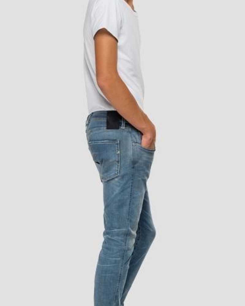 REPLAY SLIM FIT HYPERFLEX BIO ANBASS JEANS M914Y .000.661 A05