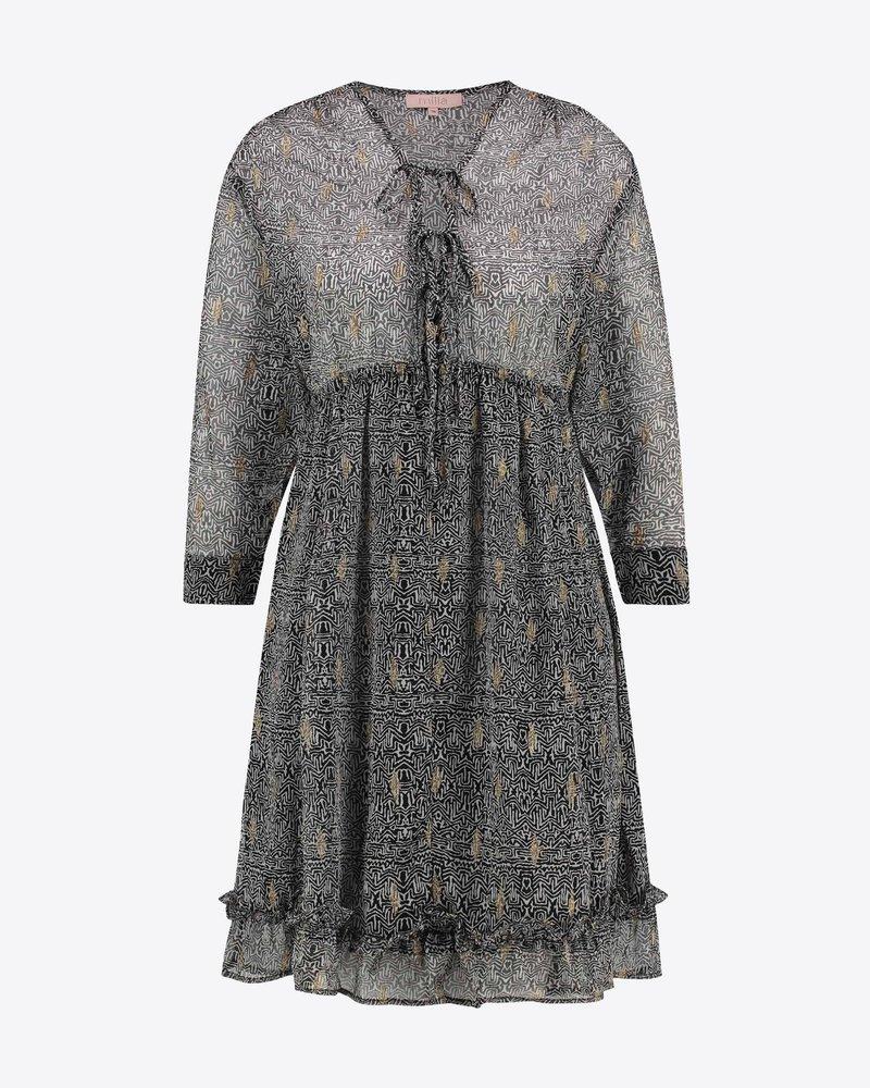 MILLA AMSTERDAM MHS201014.63 Do dress black white pr