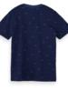 Scotch&Soda 157523 Ams blauw indigo classics tee 0218