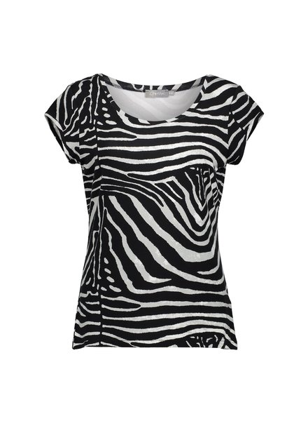 GEISHA 02318-60 Kate t-shirt aop s/s black/grey zebra