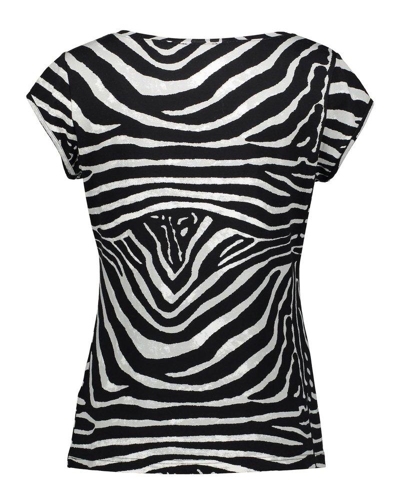 GEISHA 02318-60 Kate t-shirt aop s/s black/grey zebra