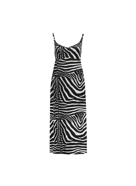 GEISHA 07361-60 Noëlle dress long spaghetti aop black/grey zebra