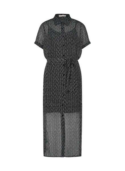FREEBIRD Harper SS-black midi dress short sleeve ao-pes-01